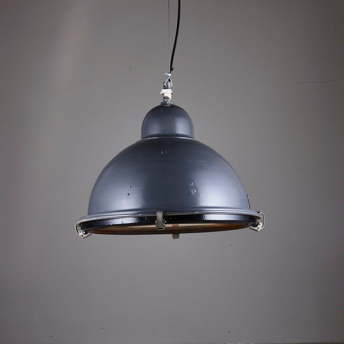 Vintage Semispheric Industrial Pendant For Sale At Pamono