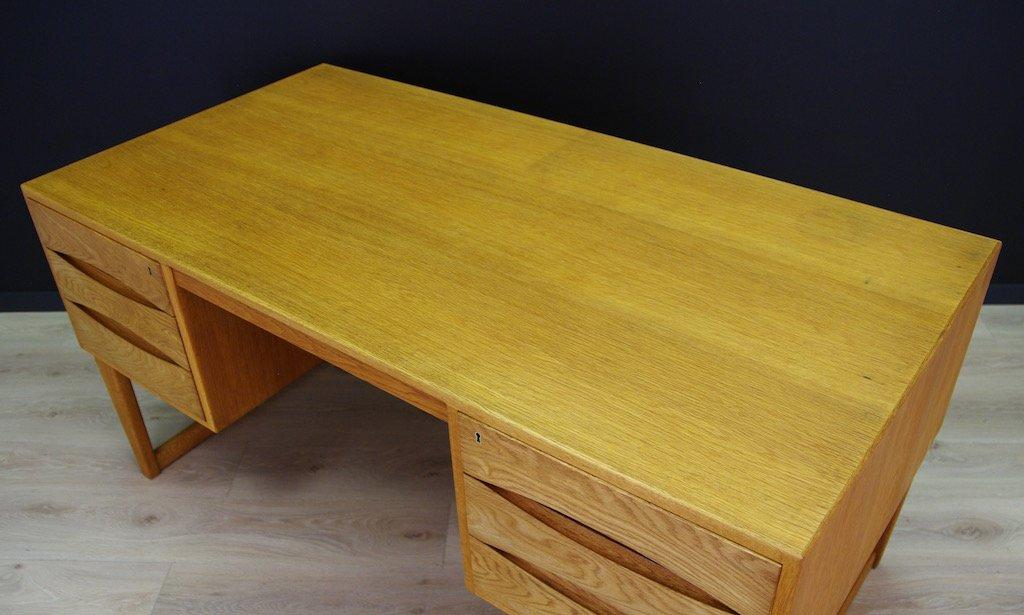 skandinavischer mid century schreibtisch mit esche furnier bei pamono kaufen. Black Bedroom Furniture Sets. Home Design Ideas