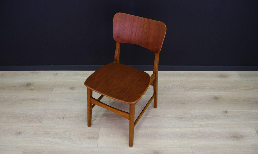 d nische vintage teak st hle 2er set bei pamono kaufen. Black Bedroom Furniture Sets. Home Design Ideas