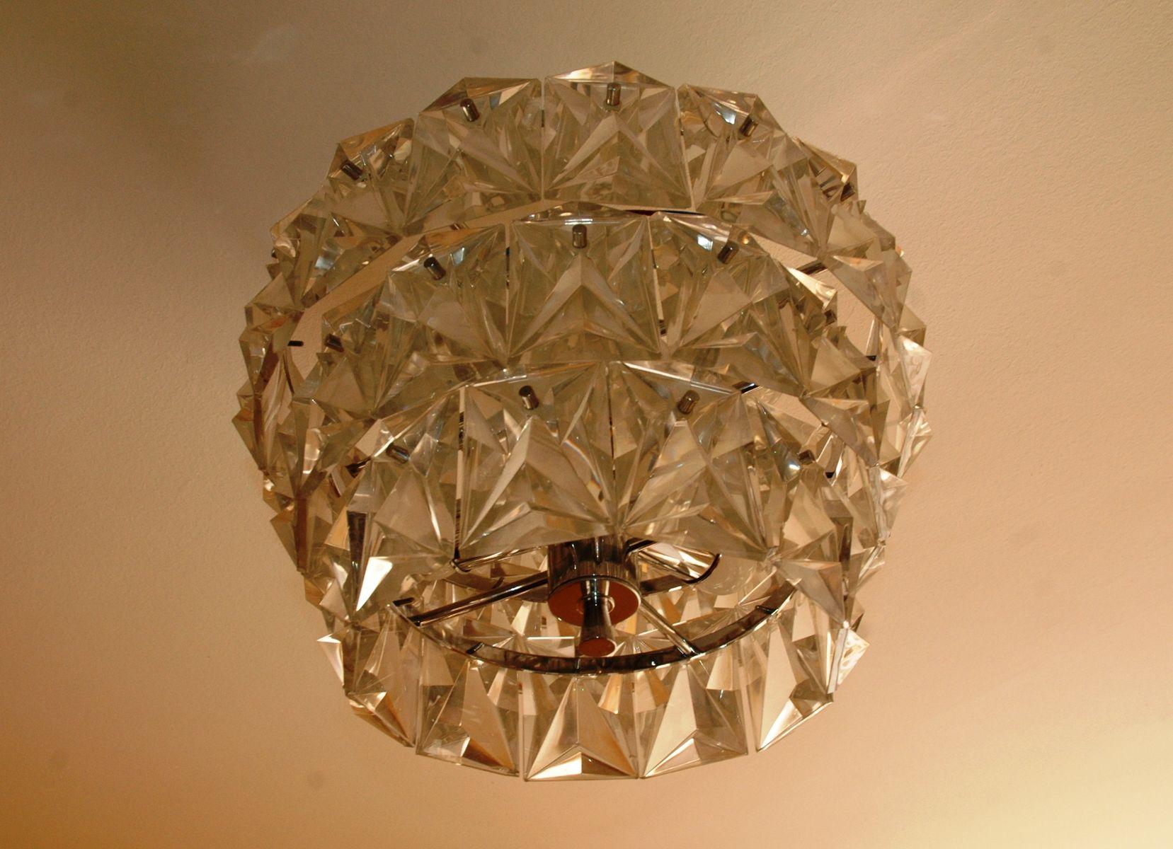 Mid-Century Bergkristall Deckenlampe