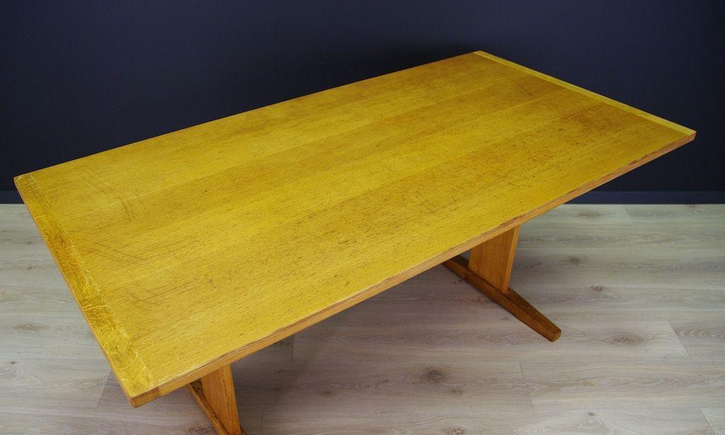 Skandinavischer Vintage Tisch Mit Esche Furnier