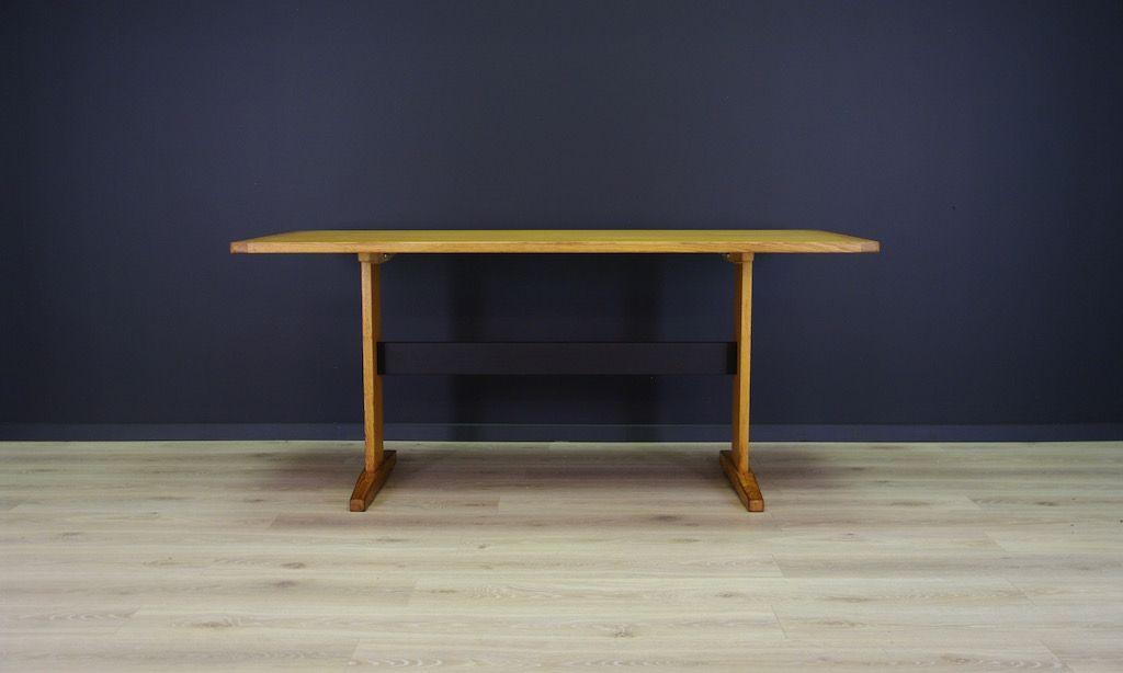 Skandinavischer Vintage Tisch mit Esche-Furnier