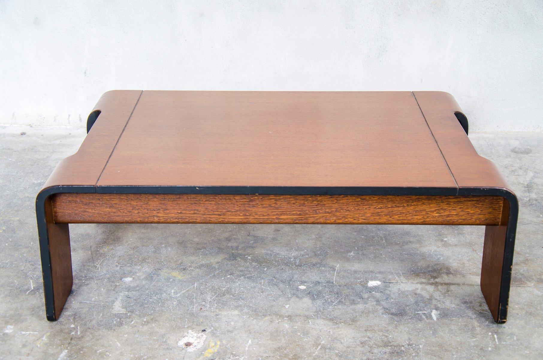 Low Wengé Couchtisch von ´t Spectrum, 1970er