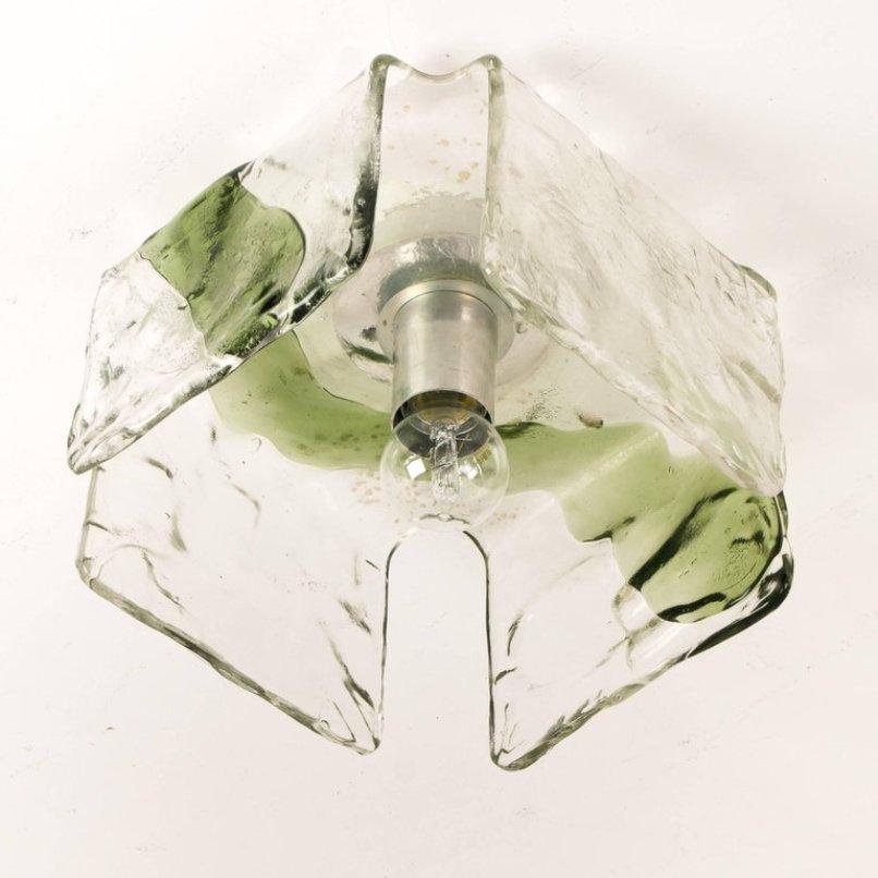 Mundgeblasene Glas Wandlampen von J.T. Kalmar, 1960er, 4er Set