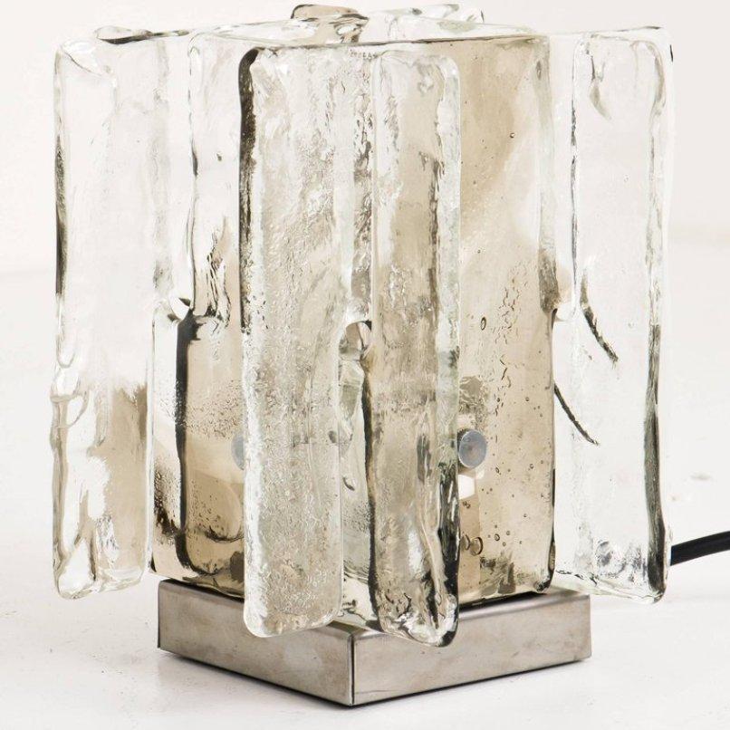 Glas Tischlampen von Carlo Nason für Mazzega, 1970er, 2er Set