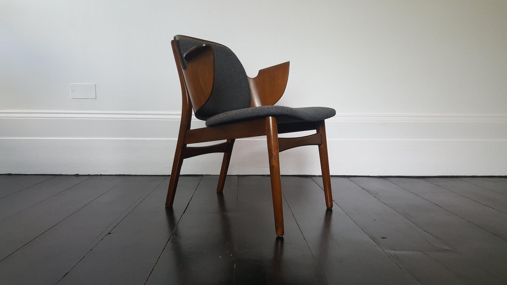 Modell 107 Armlehnstuhl von Hans Olsen für Bramin, 1950er