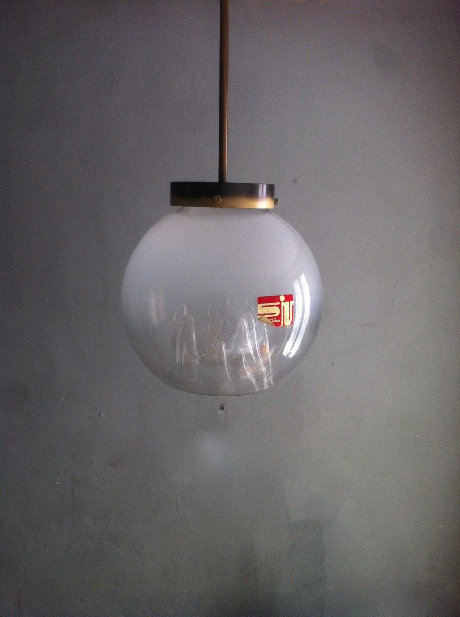 Italienische Vintage Murano Glaskugel Hängelampe von Toni Zuccheri für...