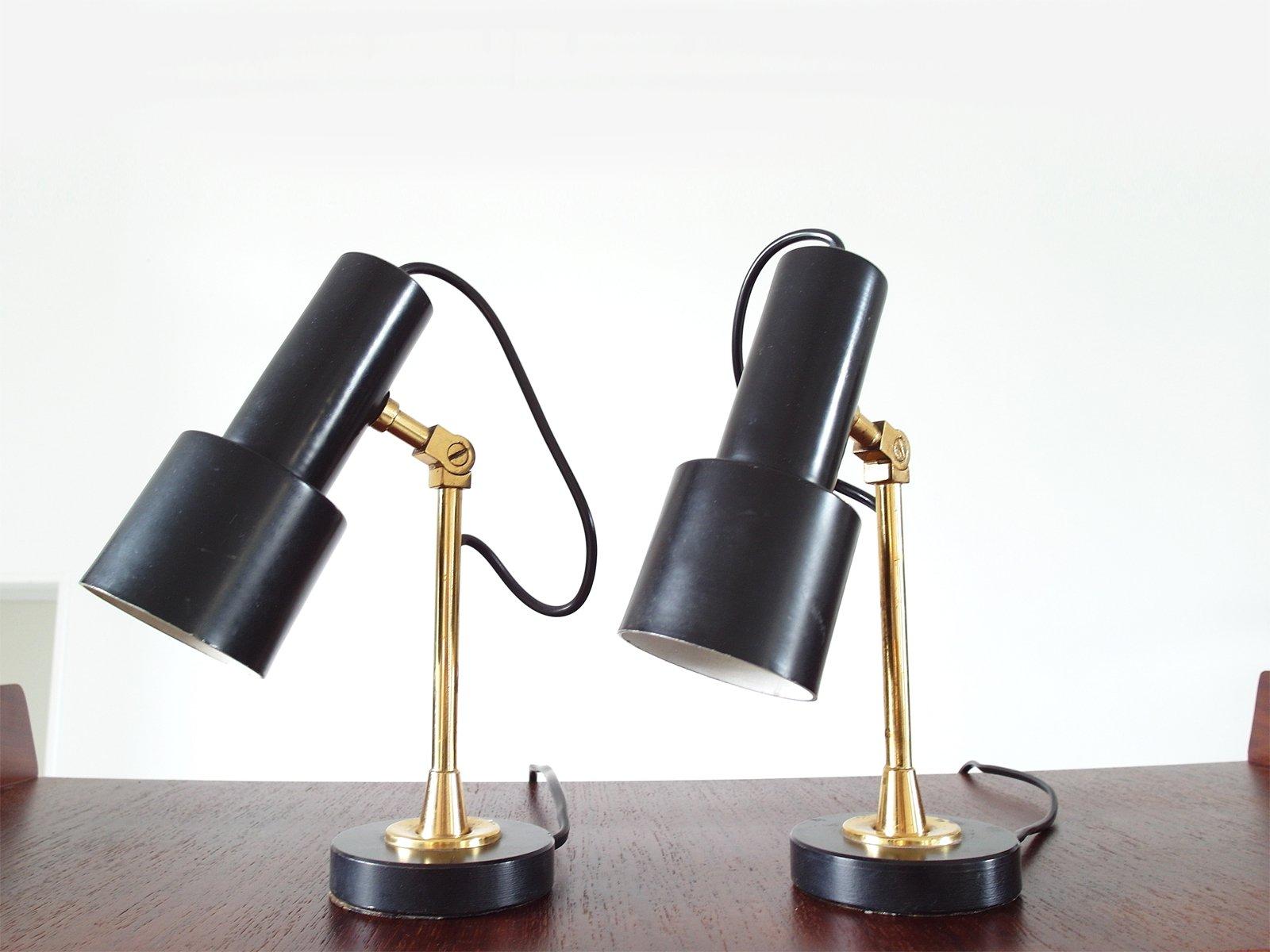 Messing Tischlampen von Stilnovo, 1950er, 2er Set
