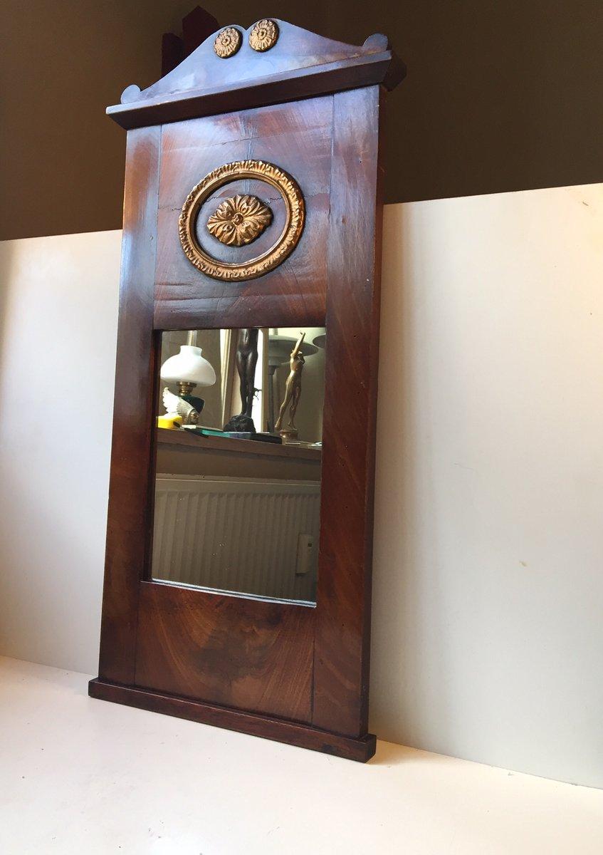 antiker d nischer spiegel mit mahagoni rahmen 1820er bei pamono kaufen. Black Bedroom Furniture Sets. Home Design Ideas