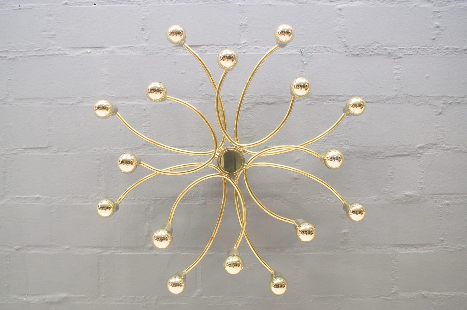 Wand- oder Deckenlampe mit 18 Leuchten, 1960er