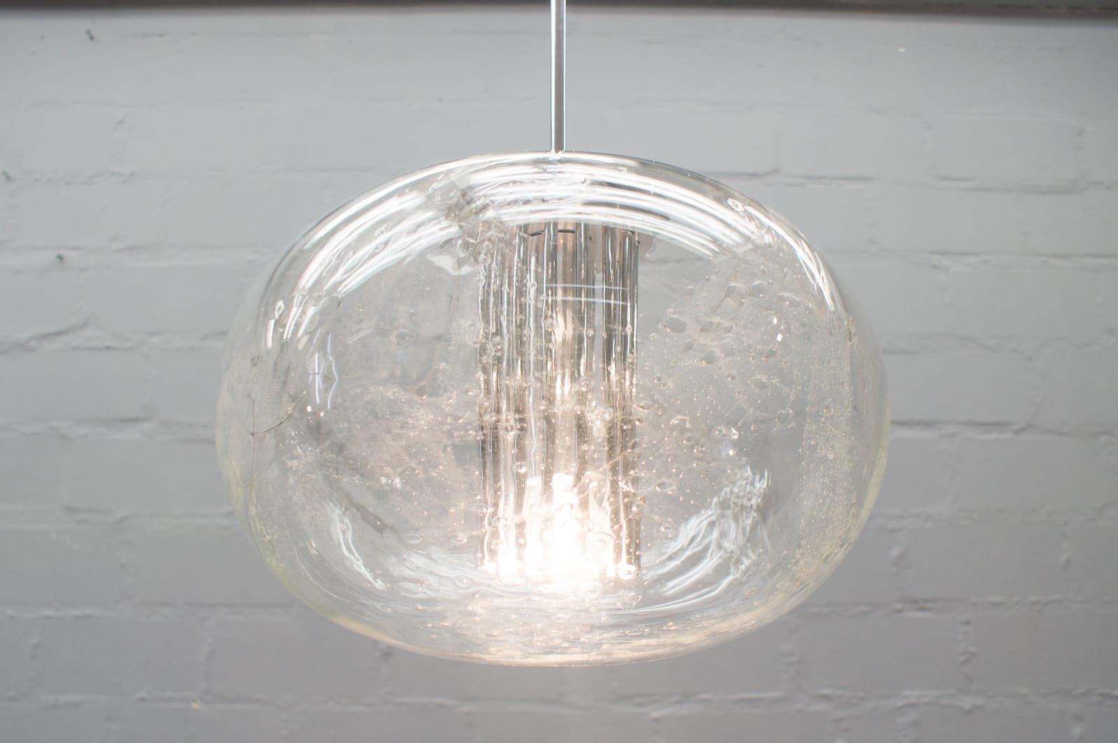 eisglas kugel lampe von doria leuchten 1960er bei pamono kaufen. Black Bedroom Furniture Sets. Home Design Ideas