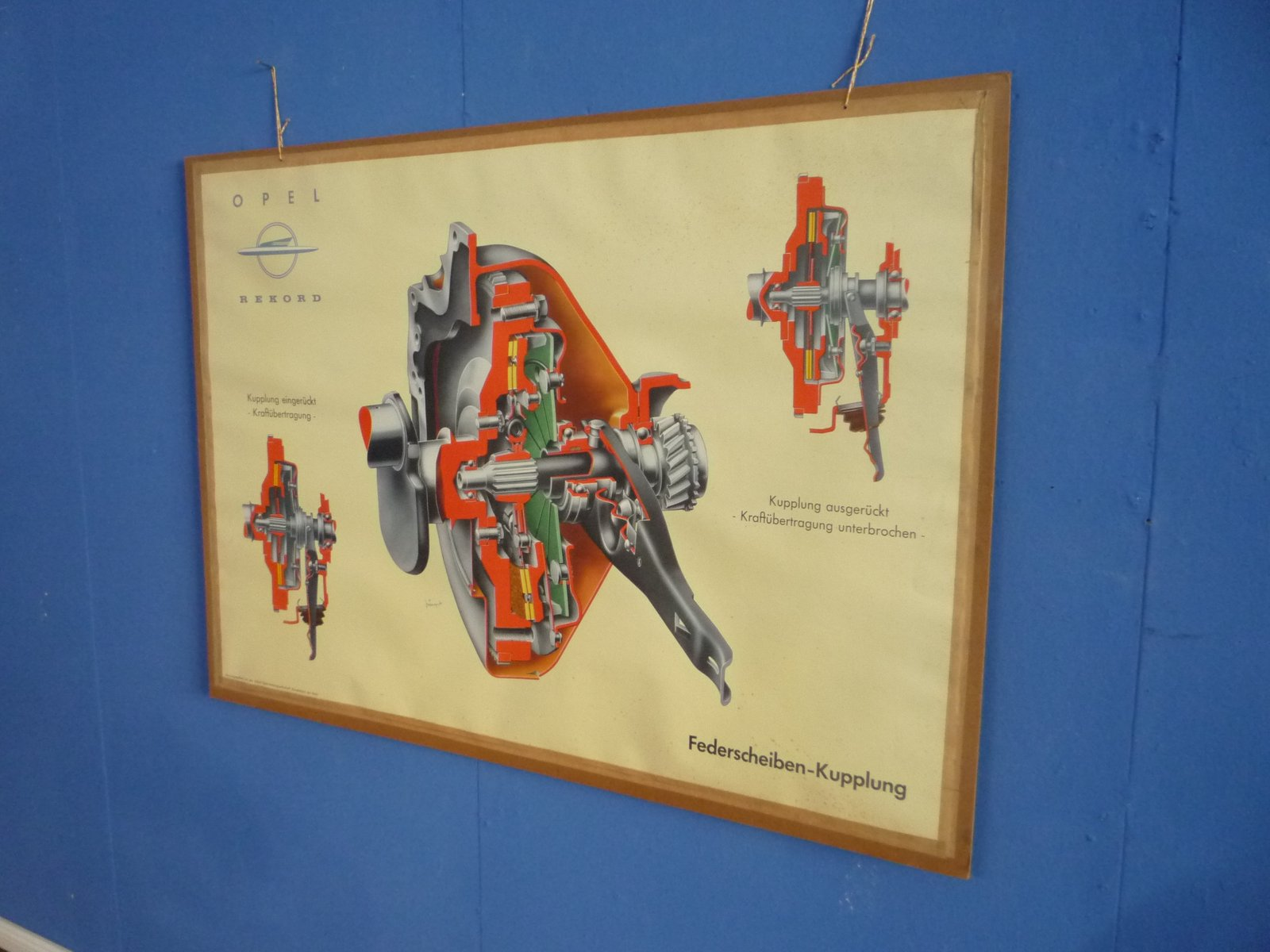 Driving School Wall Chart from Opel, 1950s for sale at Pamono
