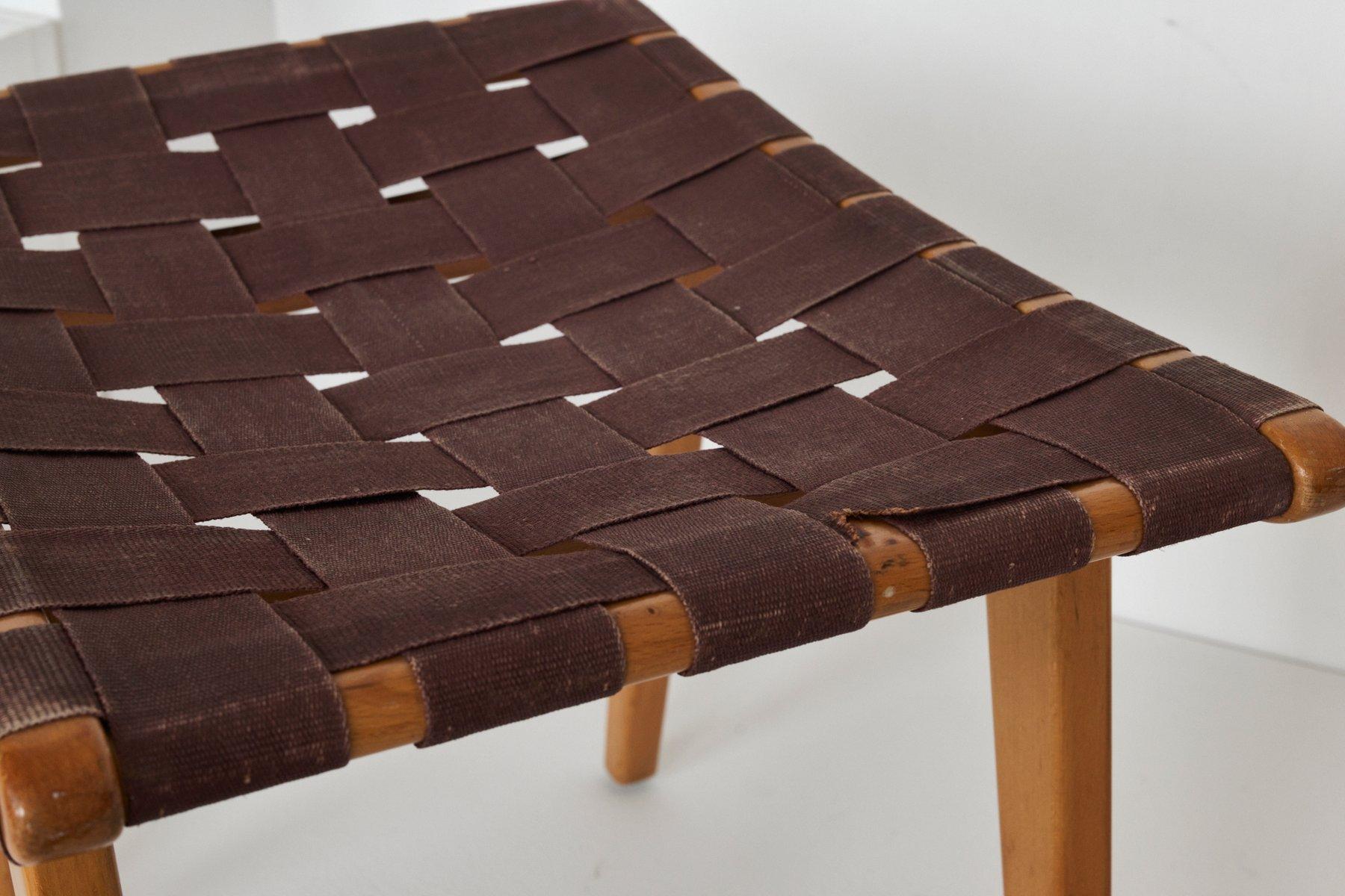 Sgabelli mid century con fodera in stoffa set di in vendita su