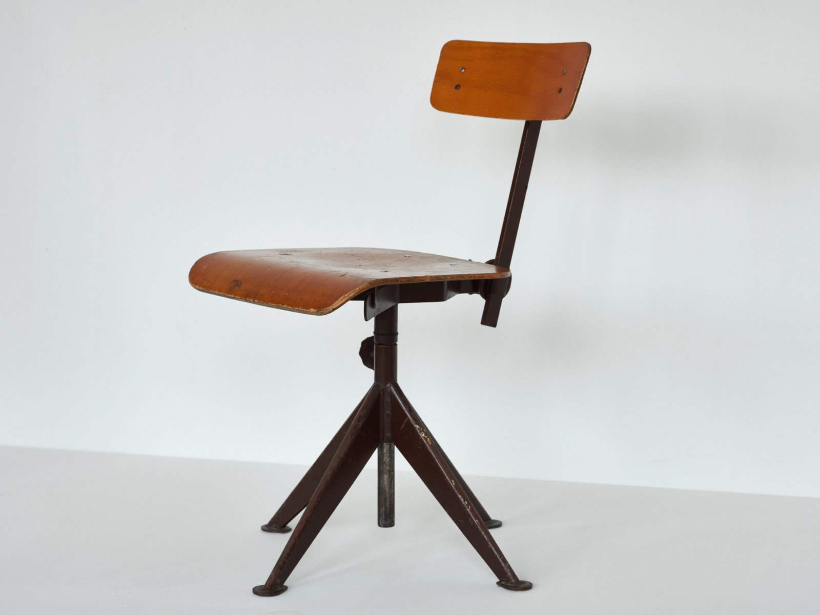 Vintage Swivel Work Chair By Jean Prouve