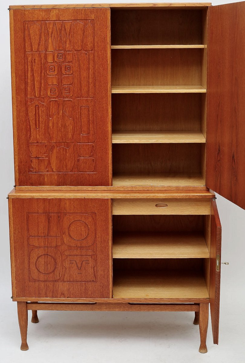 Mid Century Swedish Krus Cabinet by Yngve Ekstrom for Westbergs Mobler