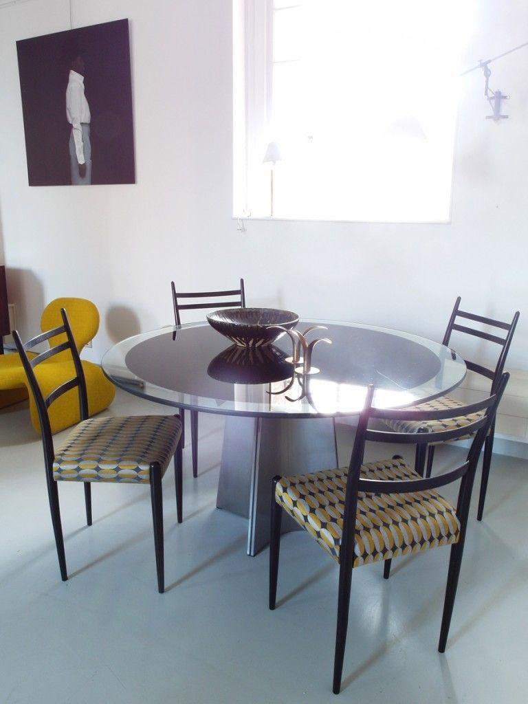 italienische esszimmerst hle 1950er 4er set bei pamono kaufen. Black Bedroom Furniture Sets. Home Design Ideas