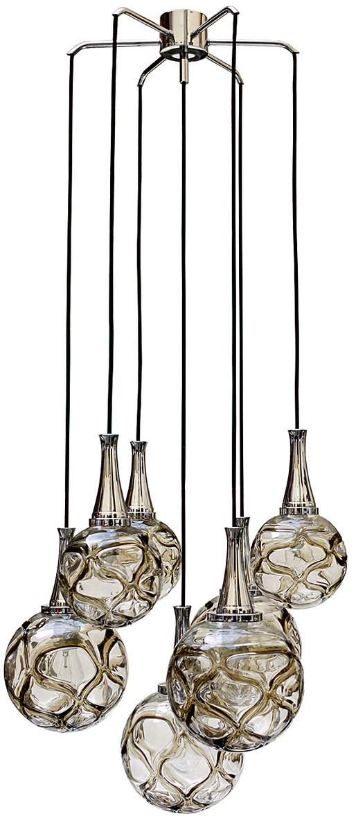 lampe suspension globe en verre allemagne 1960s en vente sur pamono. Black Bedroom Furniture Sets. Home Design Ideas