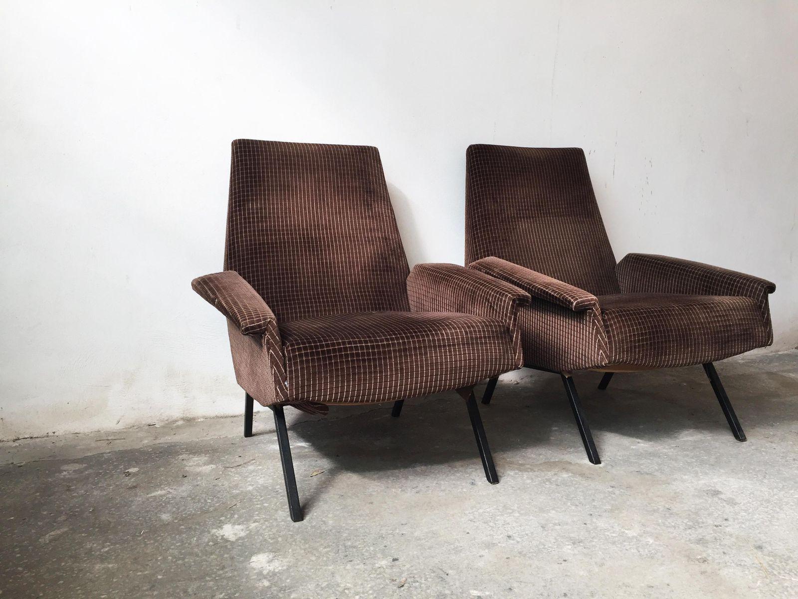 italienische mid century sessel 2er set bei pamono kaufen. Black Bedroom Furniture Sets. Home Design Ideas