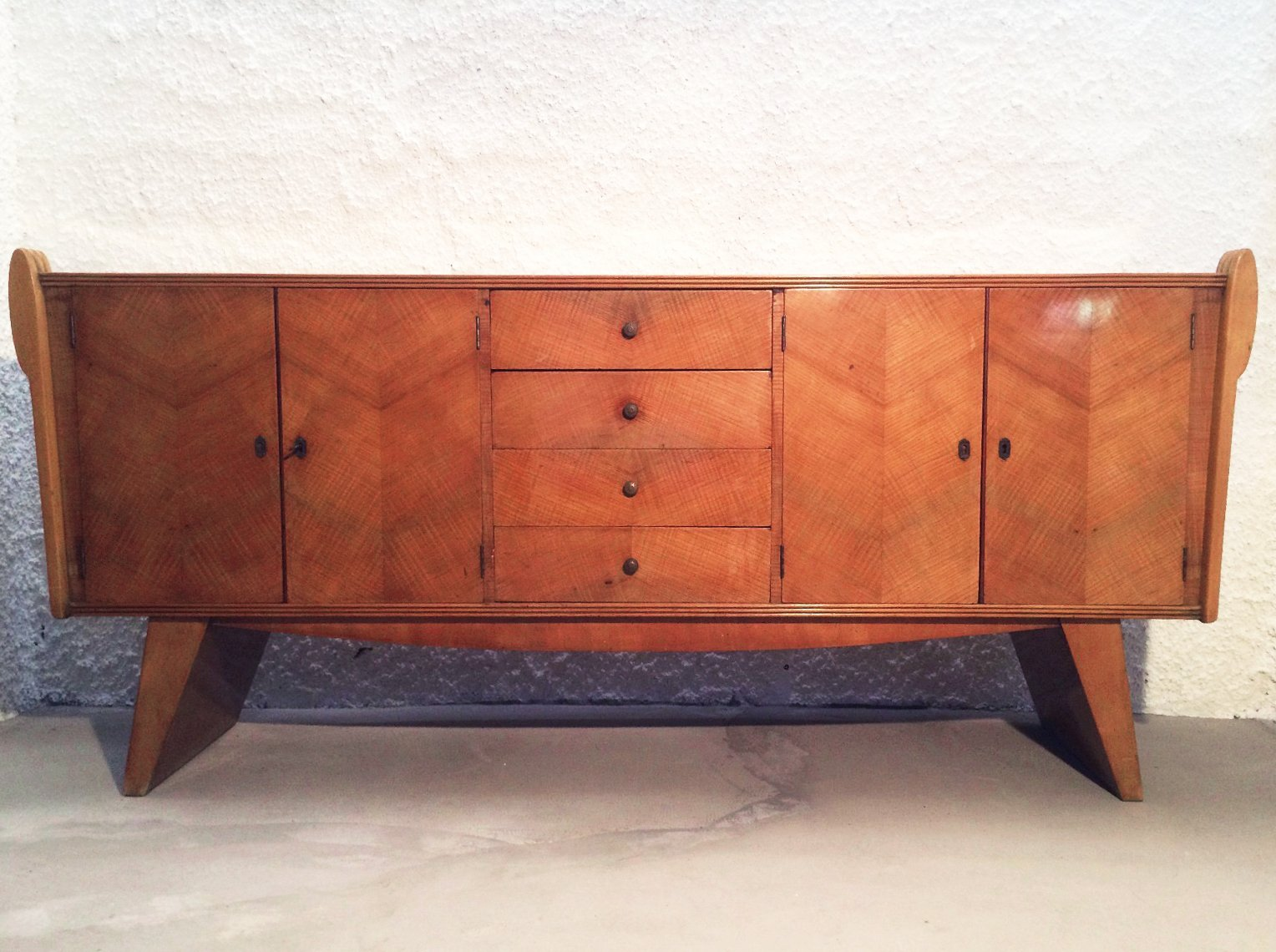 italian art deco sideboard 1940s for sale at pamono. Black Bedroom Furniture Sets. Home Design Ideas