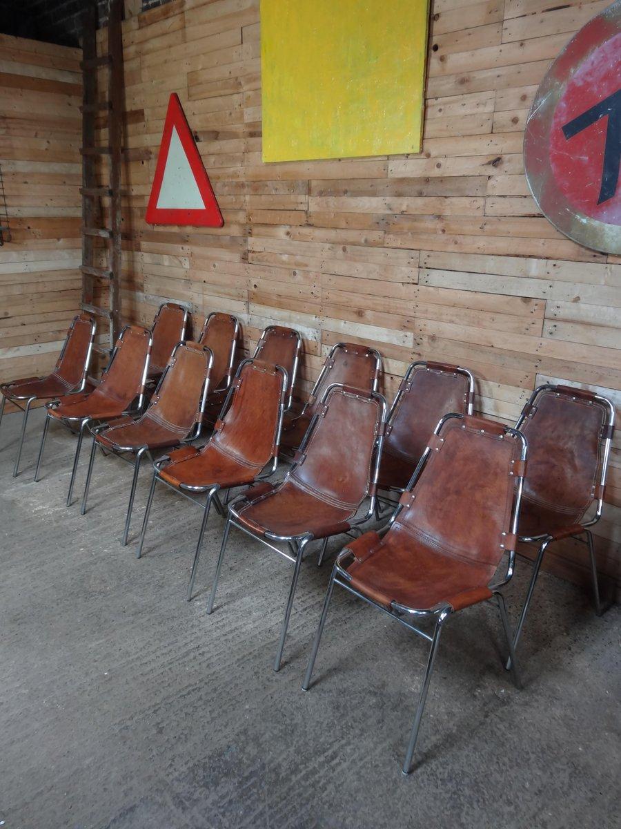 chaise les arcs par charlotte perriand pour cassina 1960s set de 6 en vente sur pamono. Black Bedroom Furniture Sets. Home Design Ideas