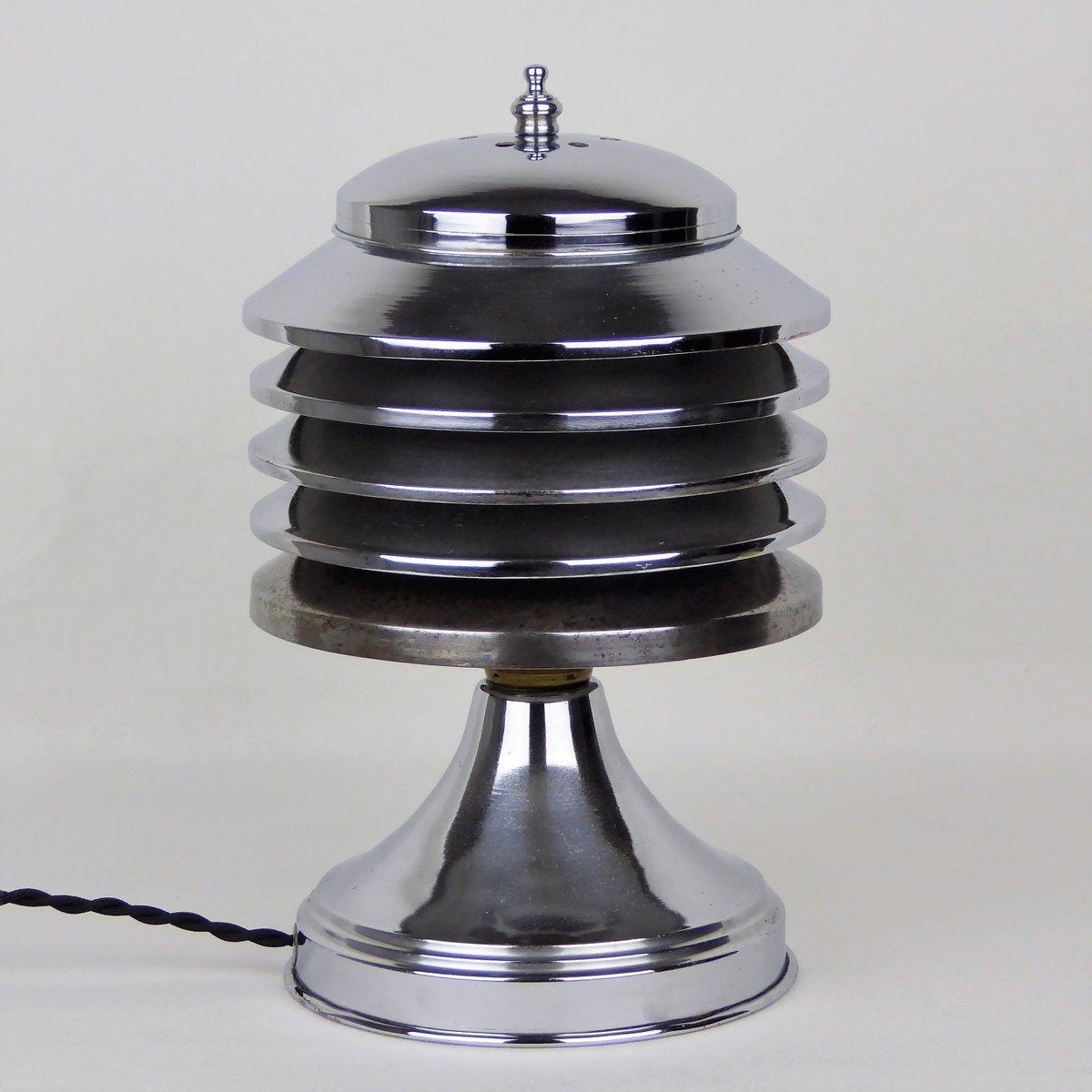 Verchromte Metall Lampe von Coulter für Coulter Lamp Toronto, 1930er
