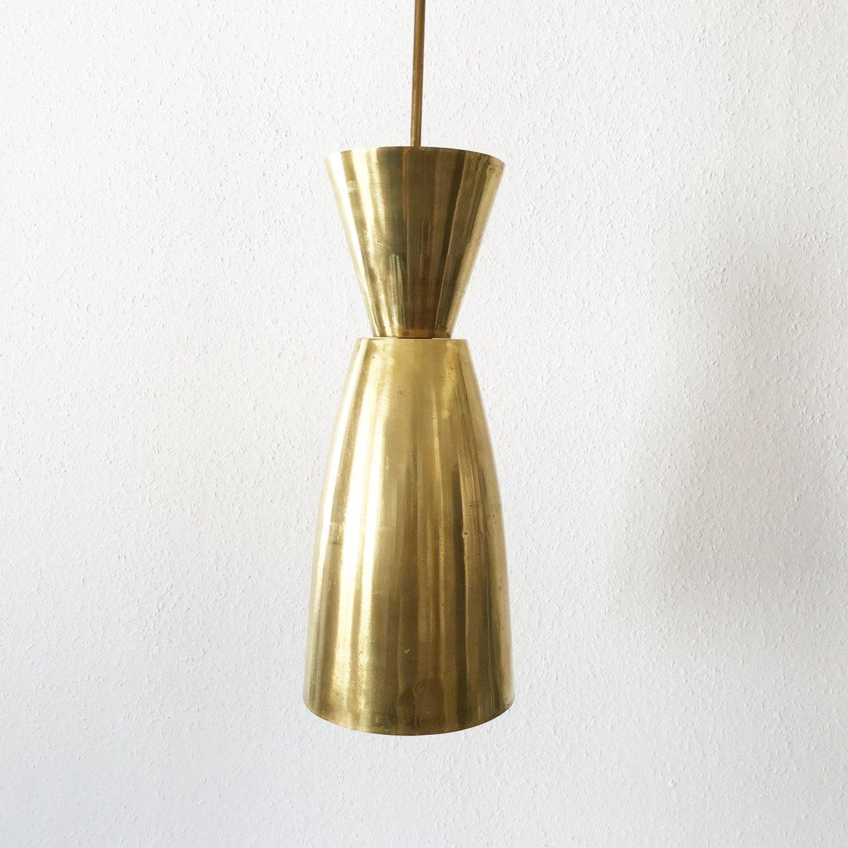 Mid-Century Large Diabolo Brass Pendant Light for sale at ...
