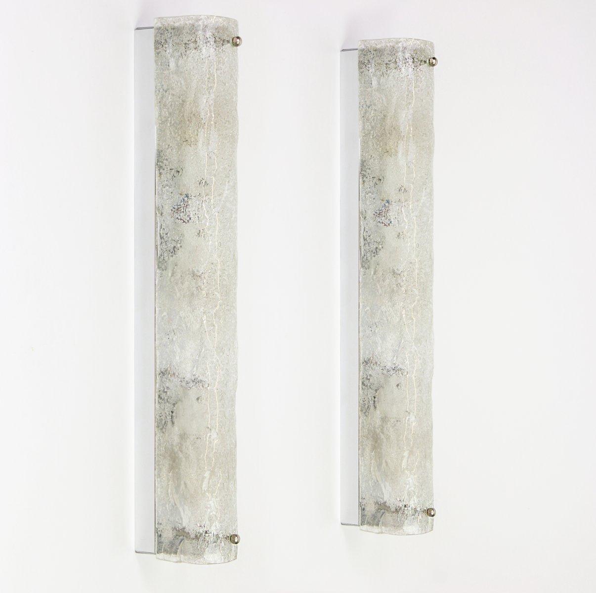 Große Moderne Murano Eisglas Wandlampen von Hillebrand Lighting, 1960e...