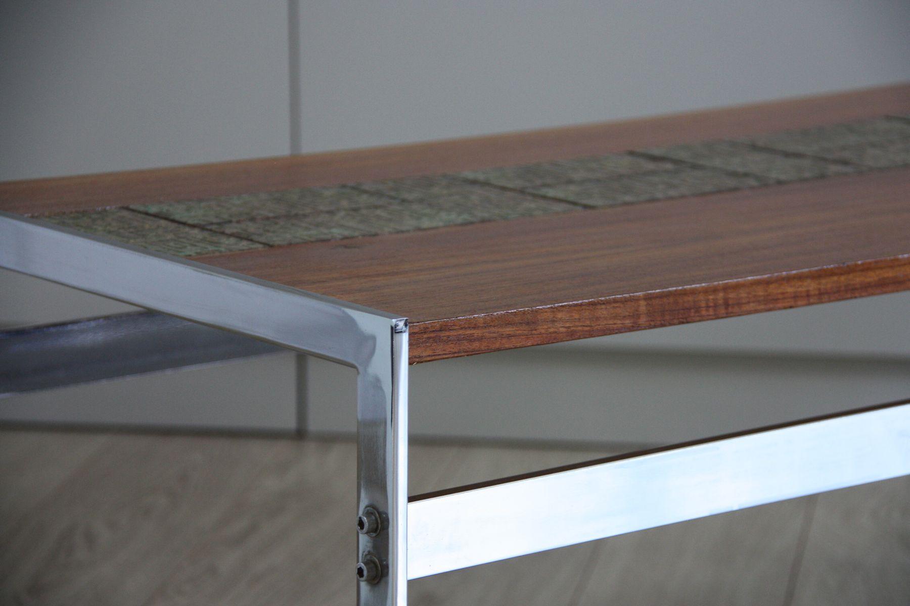 vintage holztisch mit kacheln bei pamono kaufen. Black Bedroom Furniture Sets. Home Design Ideas