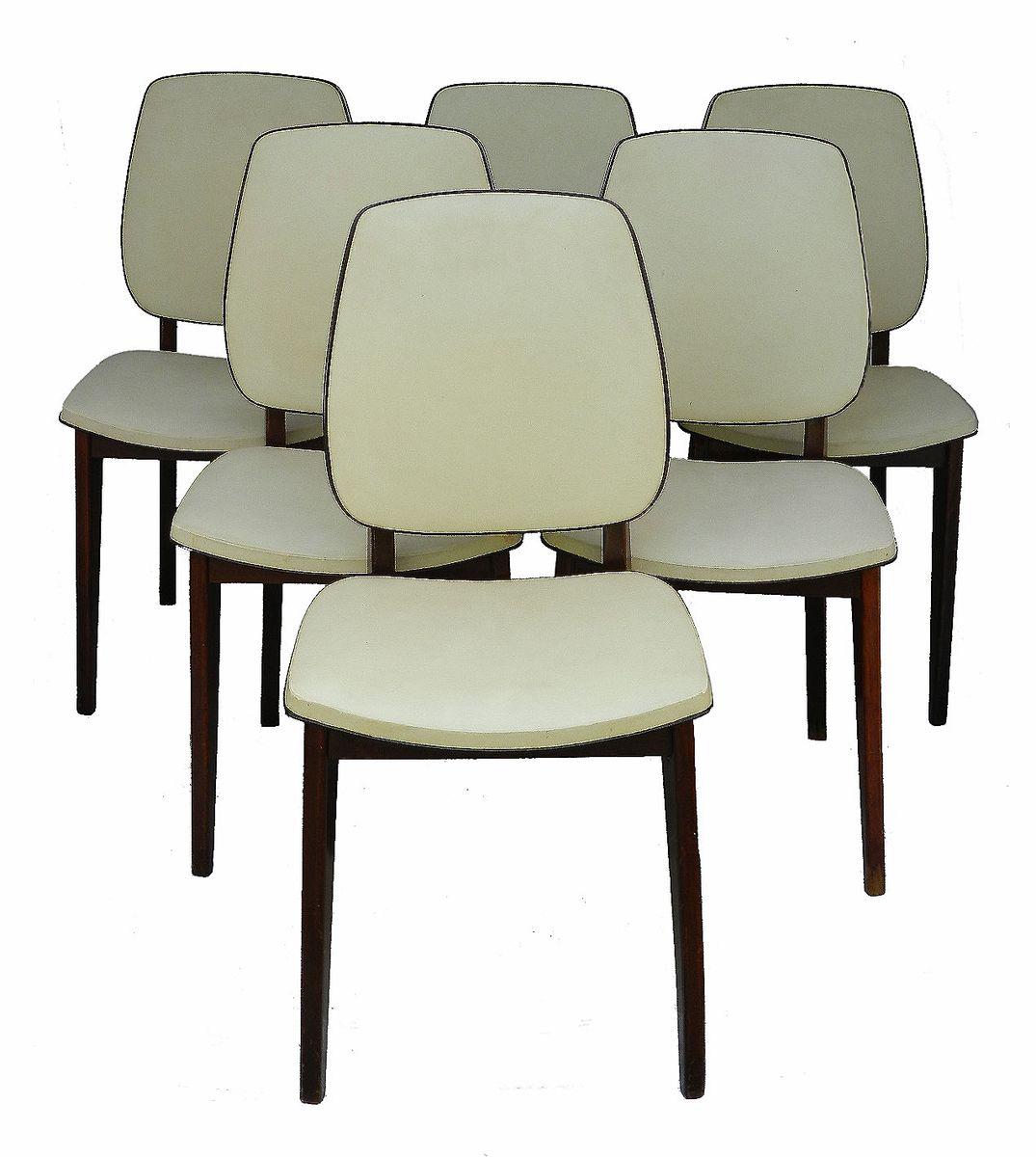 franz sische mid century esszimmerst hle 6er set bei. Black Bedroom Furniture Sets. Home Design Ideas