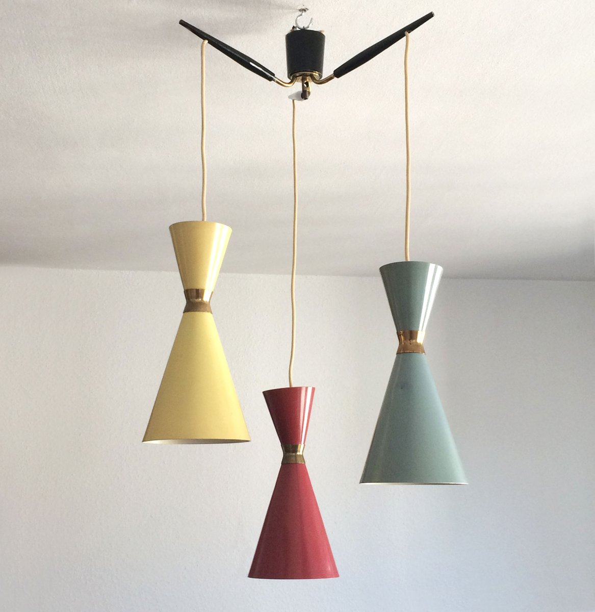 Mid-Century Diabolo Pendant Light, 1950s For Sale At Pamono
