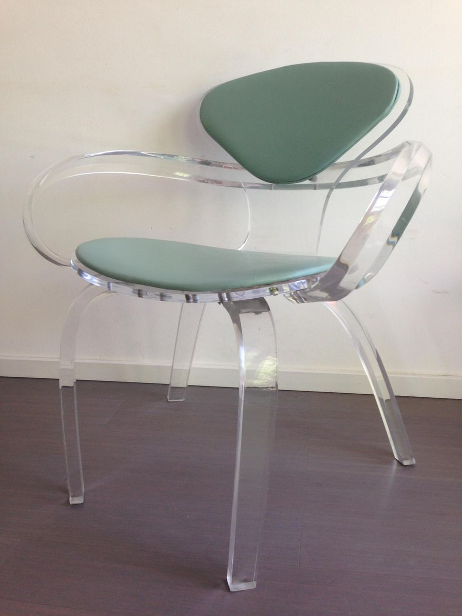 vintage armchair in thick clear acrylic for sale at pamono