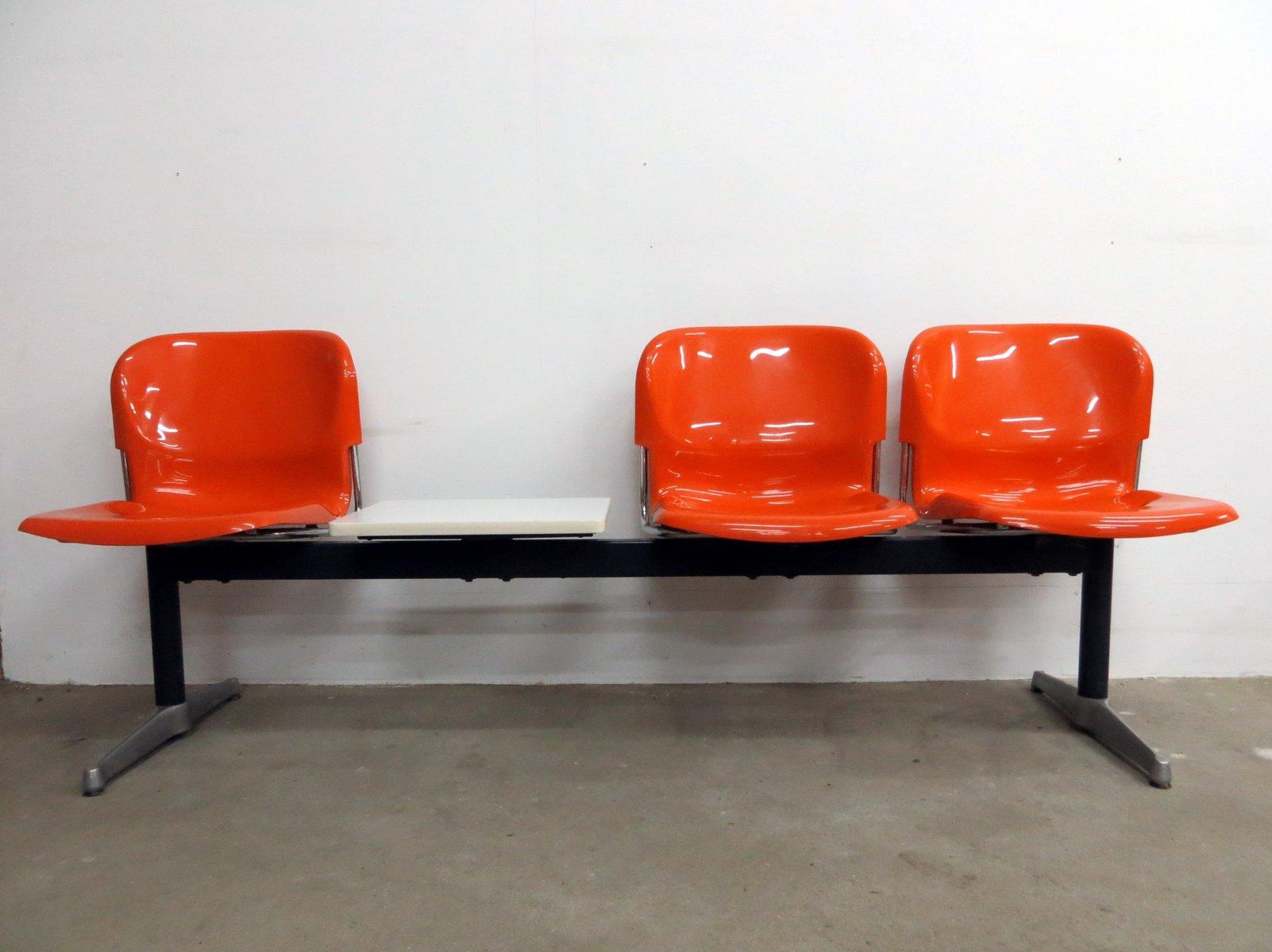 Deutsche Drei-Sitzer Swing Bank mit Tisch von Gerd Lange für Drabert, ...