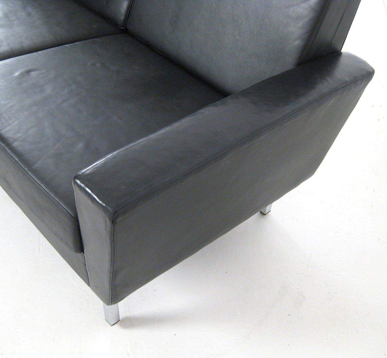 canap 4 places en cuir 1960s en vente sur pamono. Black Bedroom Furniture Sets. Home Design Ideas