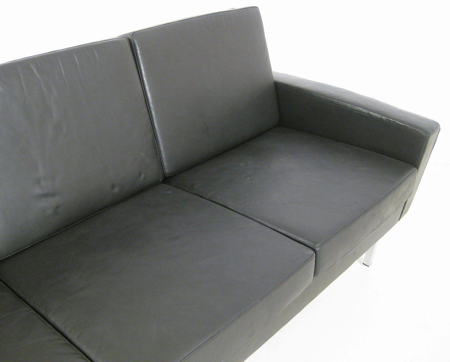 vier sitzer ledersofa 1960er bei pamono kaufen. Black Bedroom Furniture Sets. Home Design Ideas