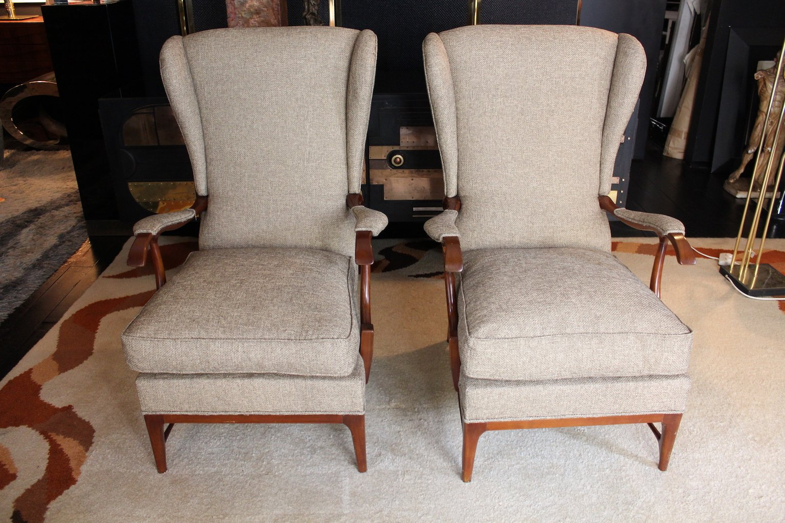 mid century sessel von paolo buffa 2er set bei pamono kaufen. Black Bedroom Furniture Sets. Home Design Ideas