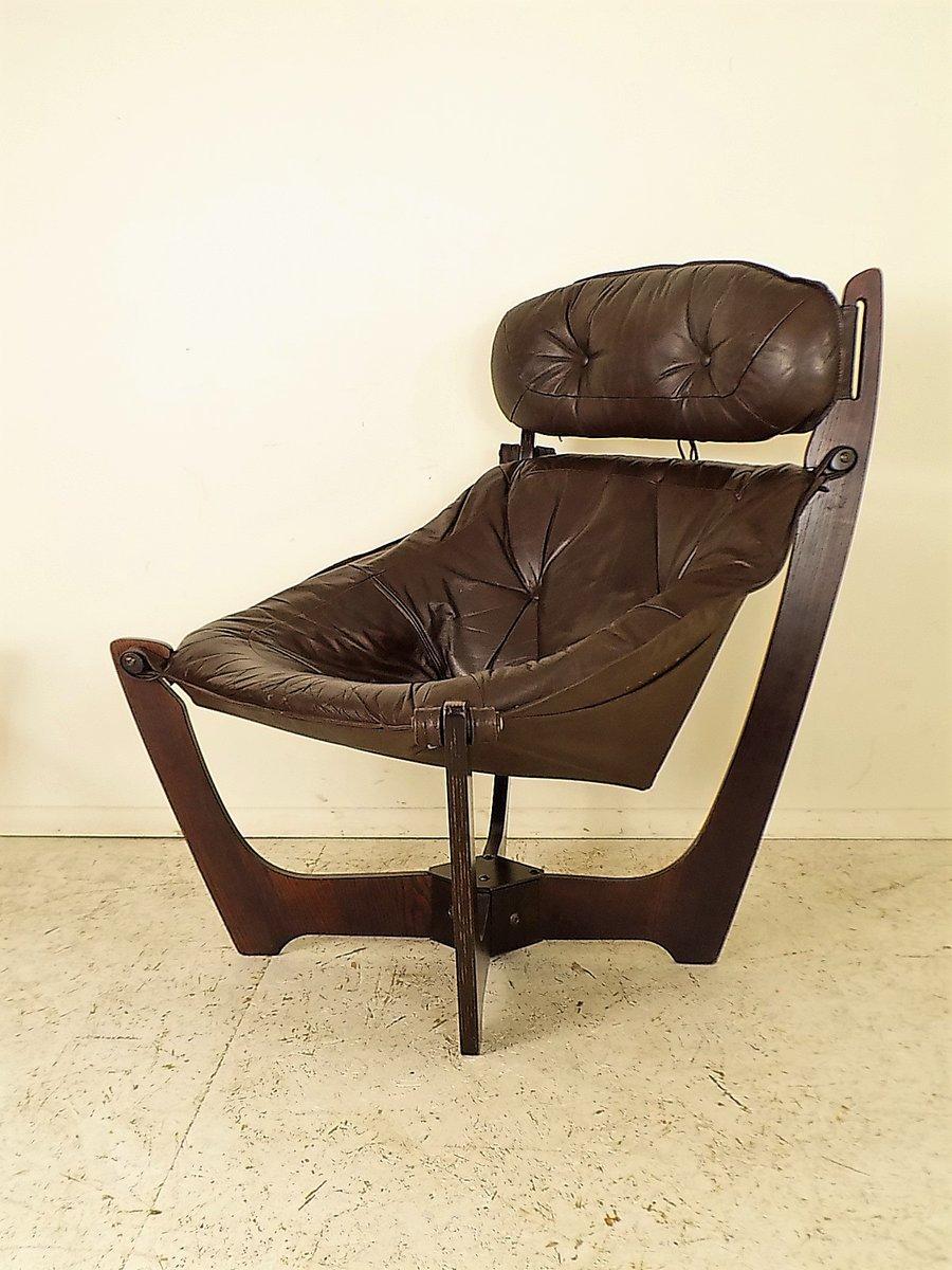 Vintage Luna Lounge Chair by Odd Knutsen for Hjellegjerde for sale ...