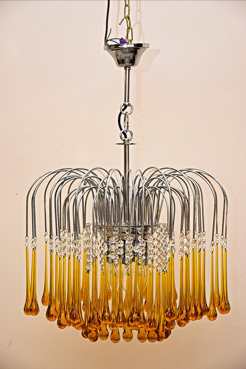 Murano glass chandelier by paolo venini 1960s for sale at pamono murano glass chandelier by paolo venini 1960s aloadofball Images