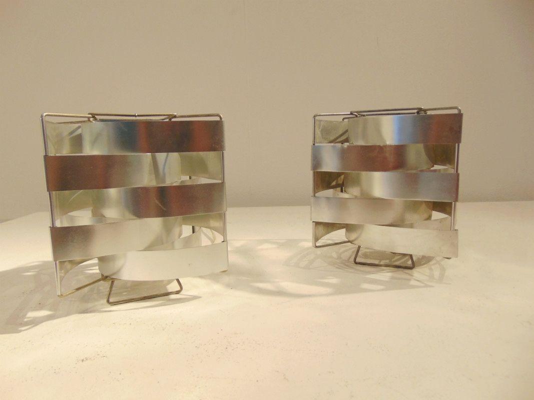 Uranus Tischlampen von Max Sauze, 2er Set