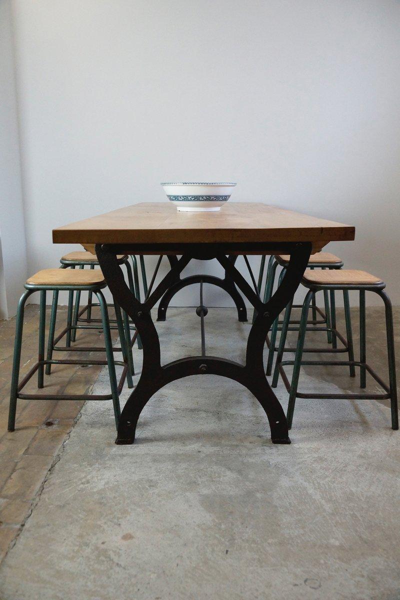 table de salle manger vintage industrielle