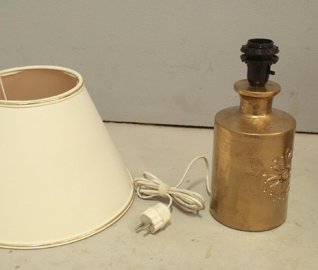 Lampade da tavolo vintage in ceramica placcata in oro a 22k di bitossi per bergboms set di 2 in - Lampade da tavolo in ceramica ...