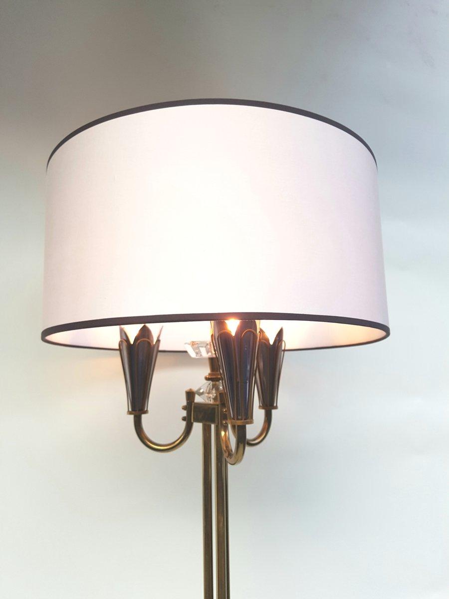 vintage dreibein stehlampe in schwarz gold von lunel 1960er bei pamono kaufen. Black Bedroom Furniture Sets. Home Design Ideas