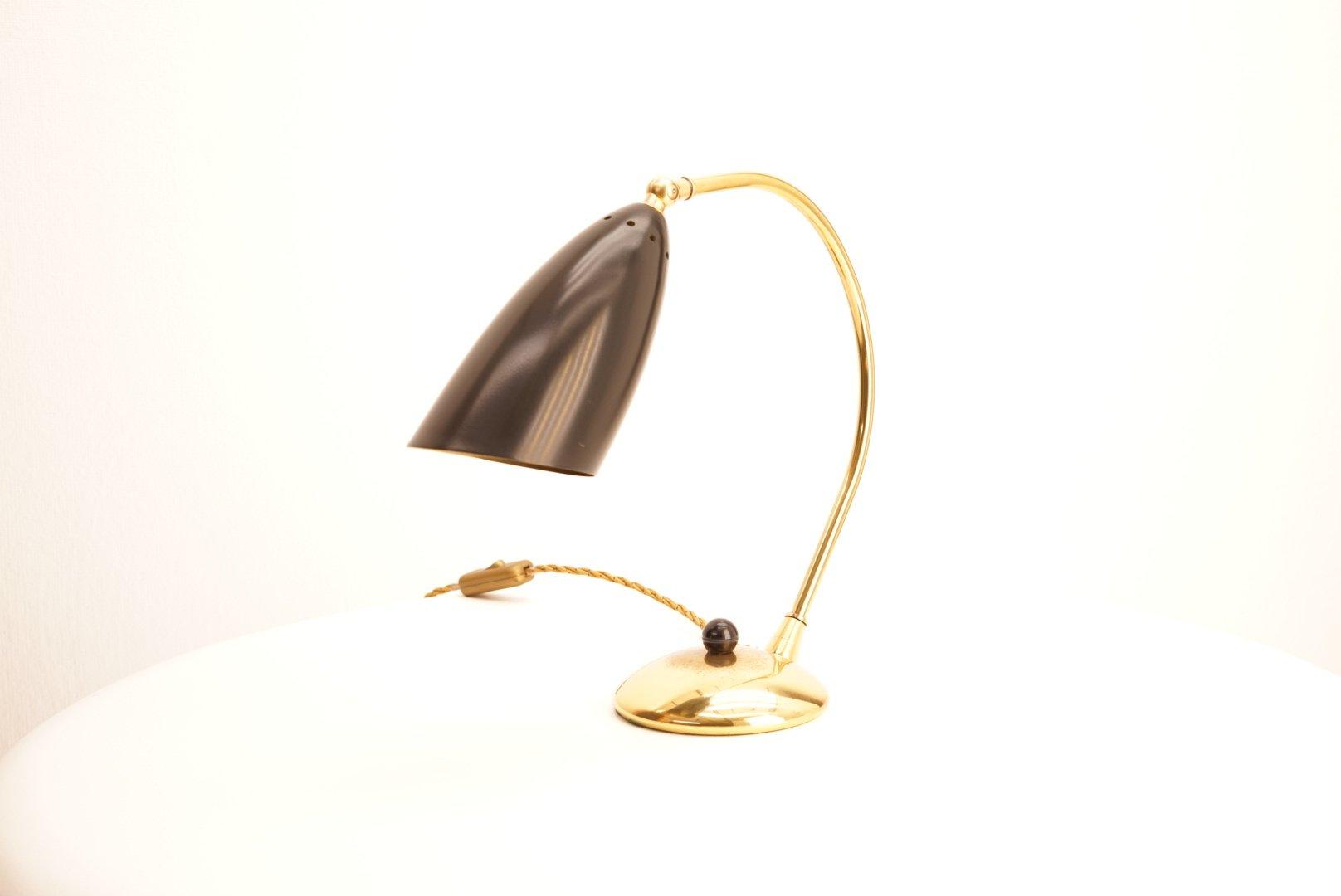 Mid-Century Tischlampen aus Messing, 1950er, 2er Set