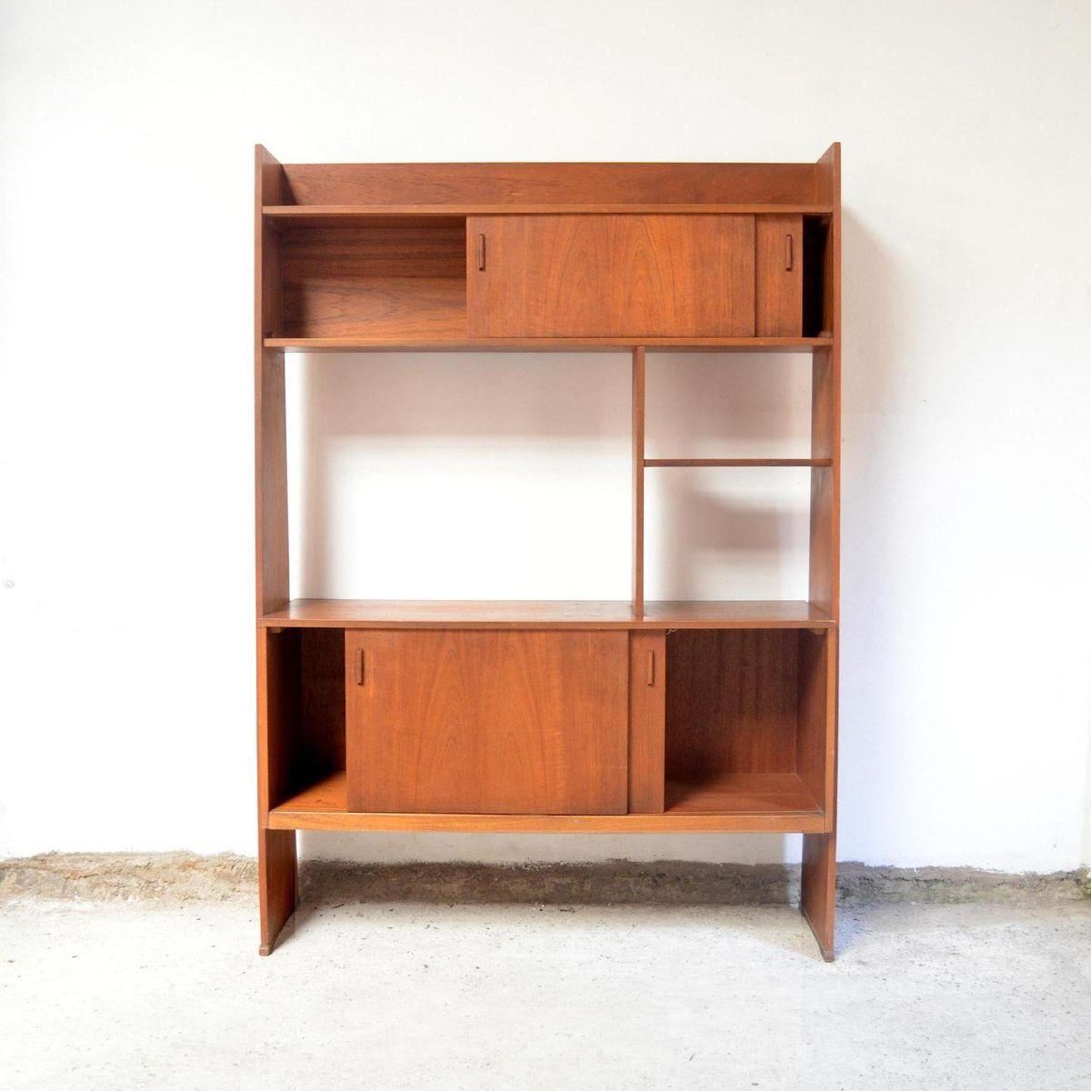 console murale mid century en vente sur pamono. Black Bedroom Furniture Sets. Home Design Ideas