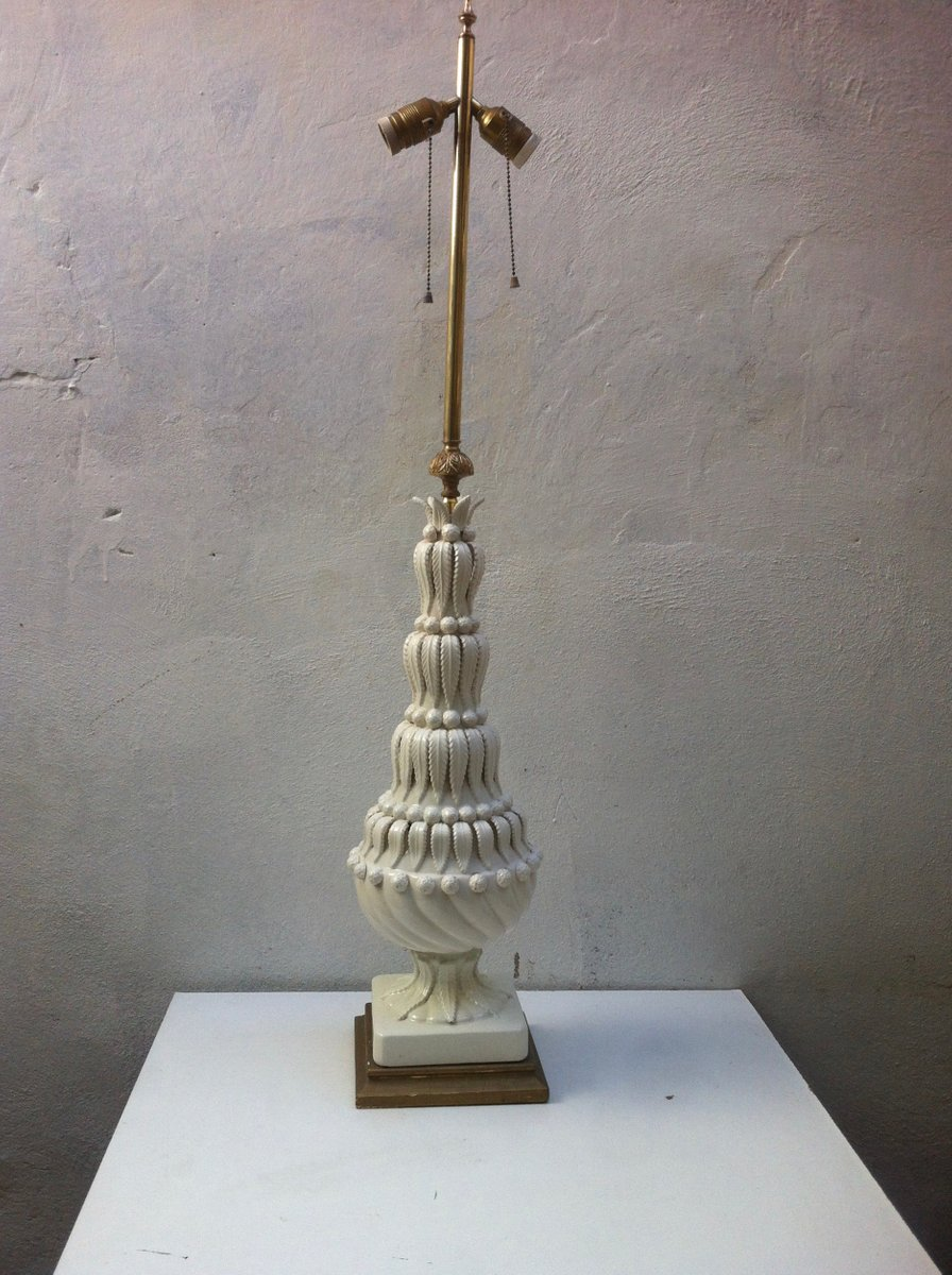 Spanische Mid-Century Keramik Tischlampe, 1950er