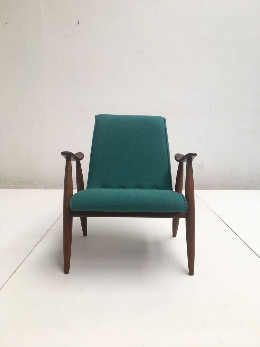 fauteuil scandinave en teck par louis van teeffelen pour w b 1950s en vente sur pamono. Black Bedroom Furniture Sets. Home Design Ideas