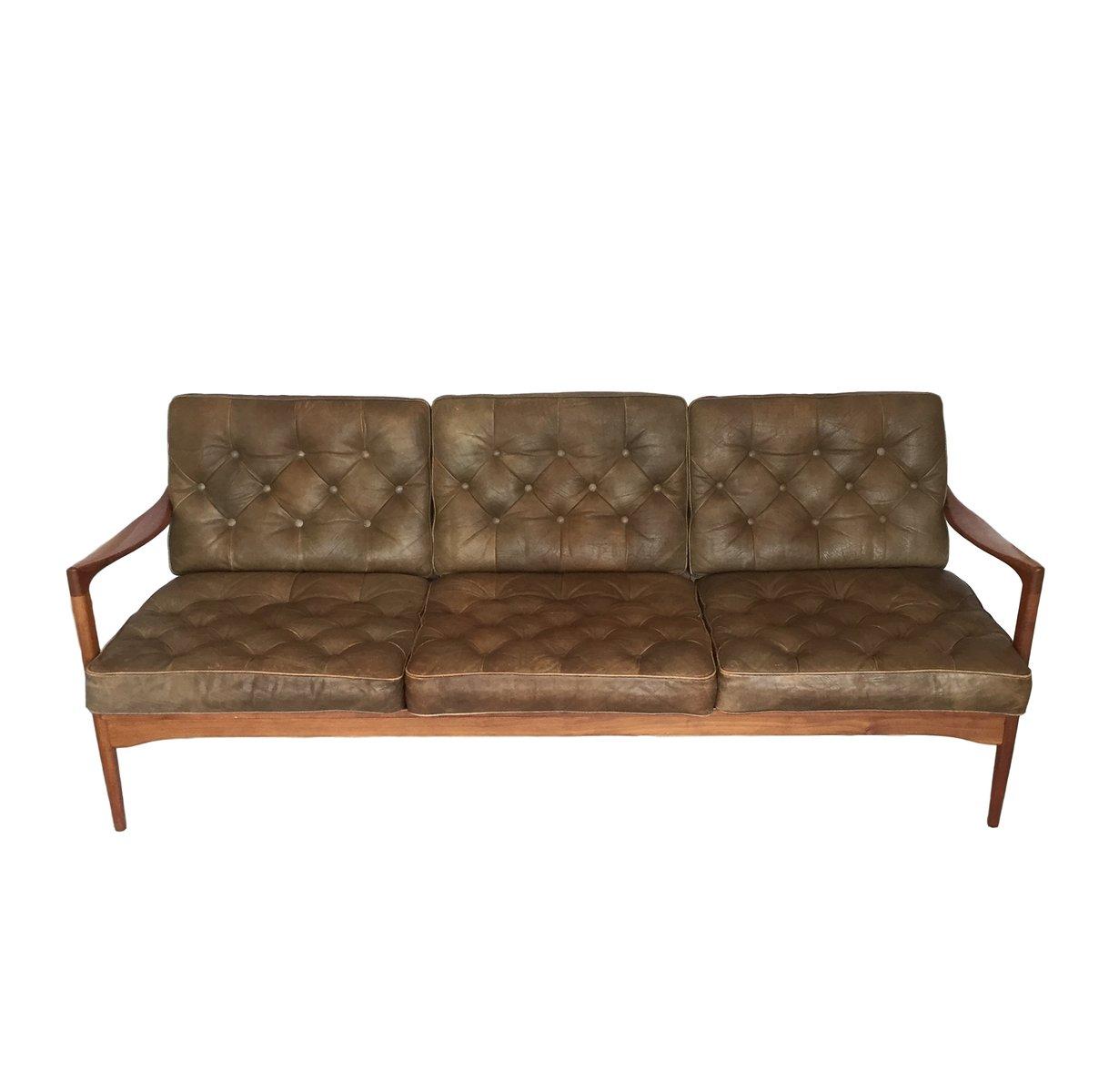 canap trois places kandidaten par ib kofod larsen pour ope 1950s en vente sur pamono. Black Bedroom Furniture Sets. Home Design Ideas
