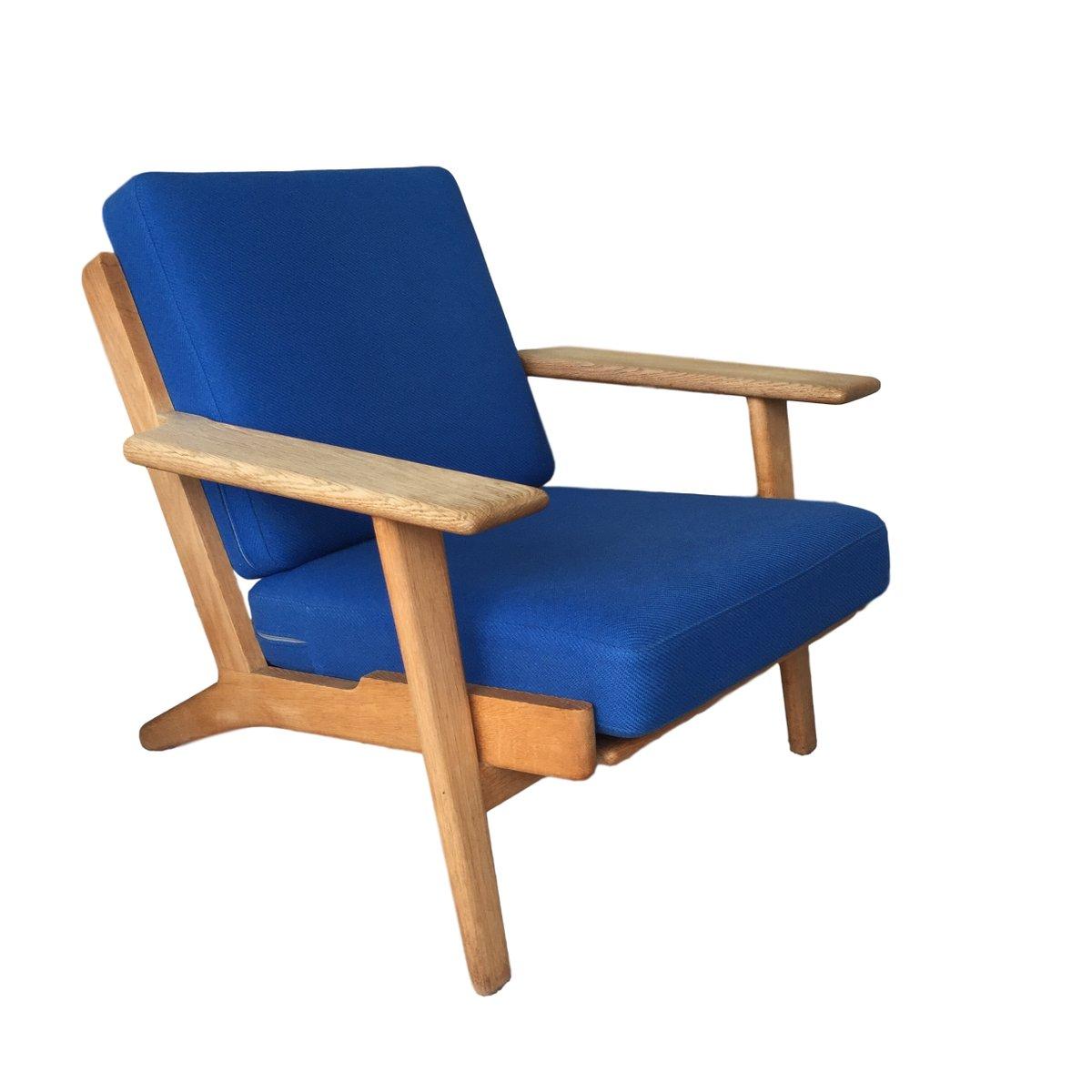 GE 290 Plank Sessel aus Eichenholz von Hans J. Wegner für Getama, 1950...