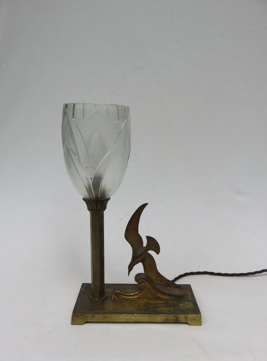Jugendstil Tischlampe Modell Möwe