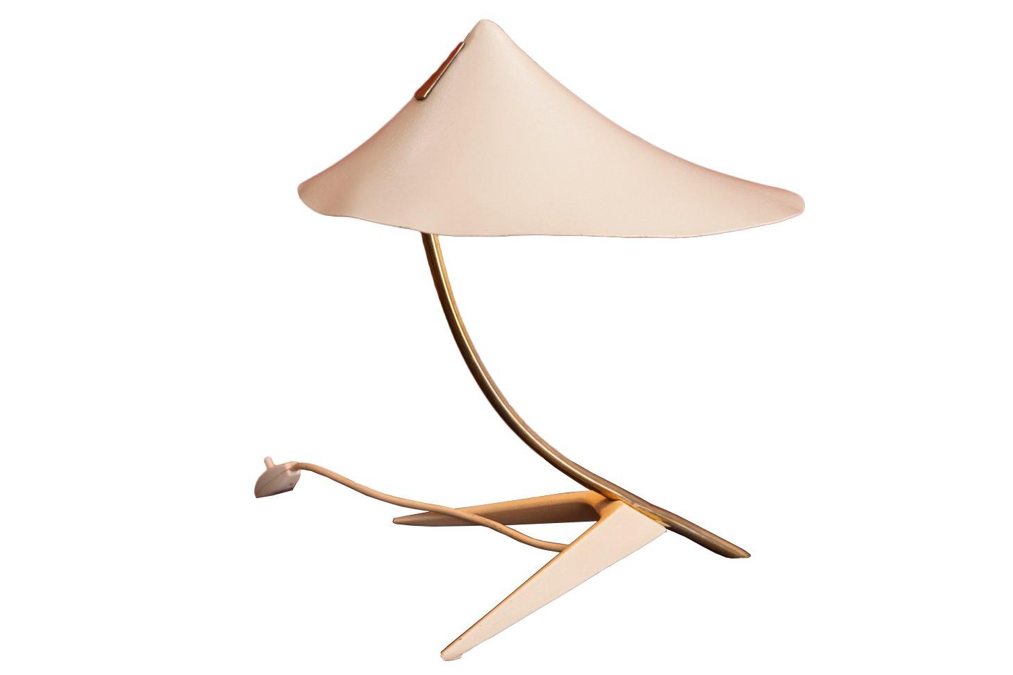 tischlampe mit wei em schirm 1950er bei pamono kaufen. Black Bedroom Furniture Sets. Home Design Ideas