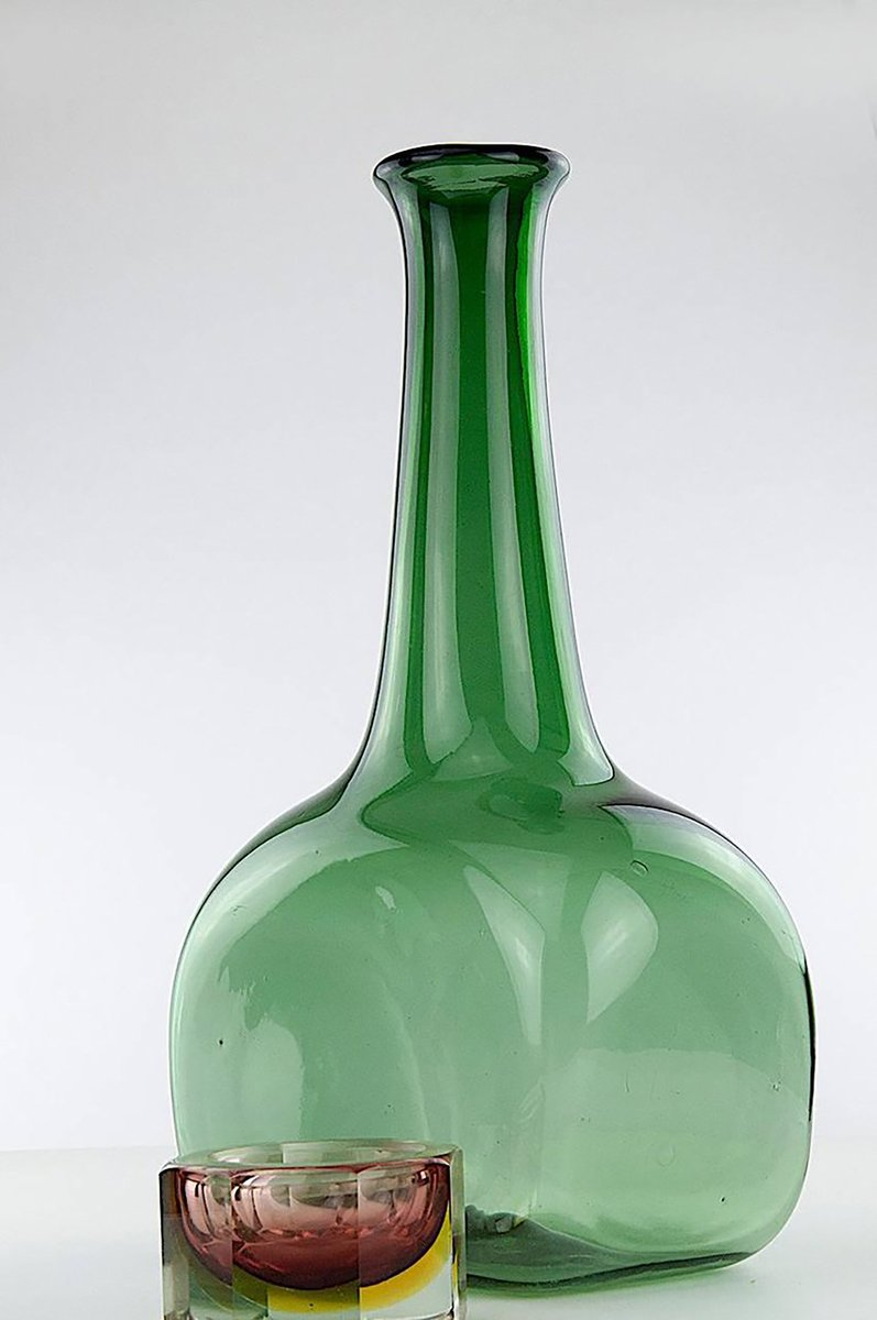 Large Glass Vase, 1960s for sale at Pamono